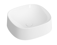 5655B403-0016 - Square Bowl Sink, 40 cm, White
