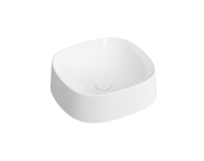 """5655B403H0016 - """"Frame Square bowl, 40 cm, without tap hole, without overflow hole, white"""""""