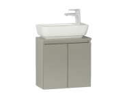 56562 - Shift+ Washbasin Unit, Including Washbasin, 50x35x34 cm, Mocha