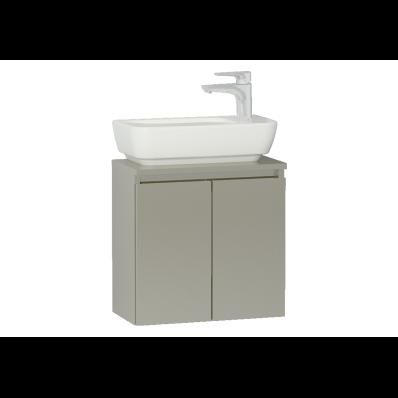 Shift+ Washbasin Unit, Including Washbasin, 50x35x34 cm, Mocha