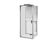 56580001000 - Notte Compact Shower Unit 90x90 cm, Flat Wall, with Door, Matte Grey
