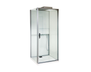 56580105000 - Notte Compact Shower Unit 90x90 cm Left, L Wall, with Door, Matte Grey