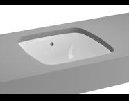 5666B003-1083 - M-Line Undercounter Washbasin, No Overflow Hole, 37 cm