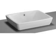 5667B003-0016 - M-Line Countertop Washbasin, No Overflow Hole, 50 cm