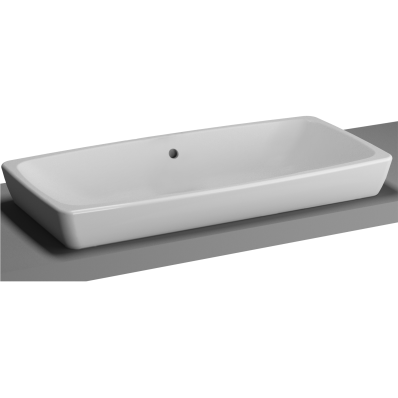 M-Line Countertop Washbasin, No Overflow Hole, 80 cm
