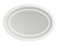 56721 - Elegance Illuminated Mirror, 100 cm, Matte White