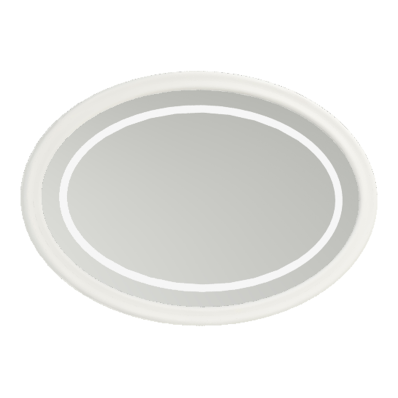Elegance Illuminated Mirror, 100 cm, Matte White