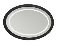 56722 - Elegance Illuminated Mirror, 100 cm, Matte Black