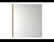 56744 - Mirror Cabinet, Classic, 80 cm, Golden Cherry