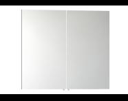 56746 - Mirror Cabinet, Classic, 80 cm, White