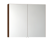 56750 - Mirror Cabinet, Classic, 100 cm, Walnut