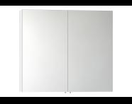 56751 - Mirror Cabinet, Classic, 100 cm, White
