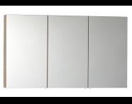 56758 - Mirror Cabinet, Classic, 120 cm, Oak