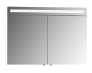 56780 - Mirror Cabinet, Elite, 100 cm, White High Gloss