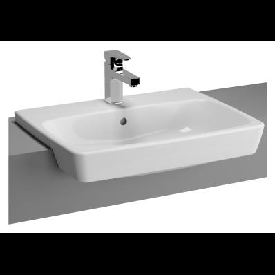 M-Line Semi-Recessed Washbasin, 60 cm
