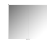 56823 - Mirror Cabinet, Premium, 80 cm, White High Gloss