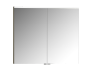 56824 - Mirror Cabinet, Premium, 80 cm, Grey Birch High Gloss
