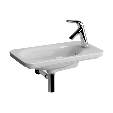 Nest Trendy Compact Basin, 60x35 cm, Right with Tap Hole, with Side Holes