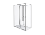 56920012000 - Zest Compact Shower Unit 120x90 cm Right, with Door,  L Wall, Matte Grey