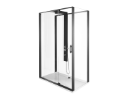 56920022000 - Zest Compact Shower Unit 120x90 cm Right, with Door,  L Wall, Matte Black