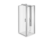 56930013000 - Zest Compact Shower Unit 90x90 cm Right, with Door,  L Wall, Matte Grey
