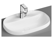 5695B403-0041 - Oval Bowl, 56 cm, One Tap Hole, Without Overflow Hole, White