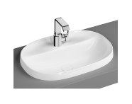 "5695B403H0041 - ""Frame Oval countertop basin, 56 cm, with tap hole, without overflow hole, white"""