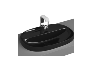 5695B470-0041 - Oval Bowl, 56 cm, One Tap Hole, Without Overflow Hole, Black