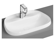 "5696B401H0041 - ""Frame TV shaped countertop basin, 57 cm, with tap hole, without overflow hole, matte white"""