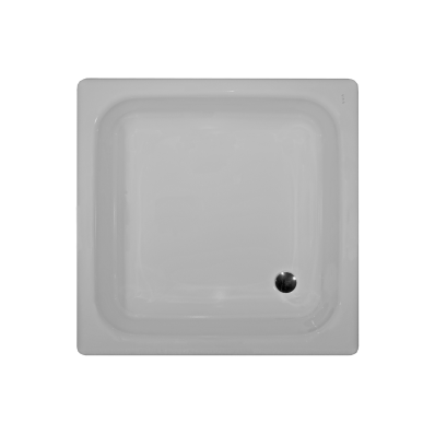 Generic Square 90x90 cm Steel Shower Tray, 3.5  Mm, H:16 cm, 52  Mm Waste, Sound Proofing Pad