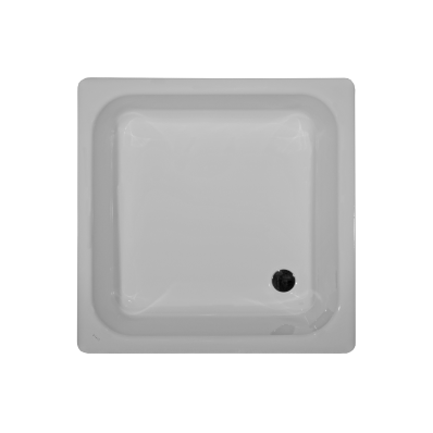 Generic Square 90x90 cm Steel Shower Tray, 2.2  Mm, H:14 cm, 52  Mm Waste
