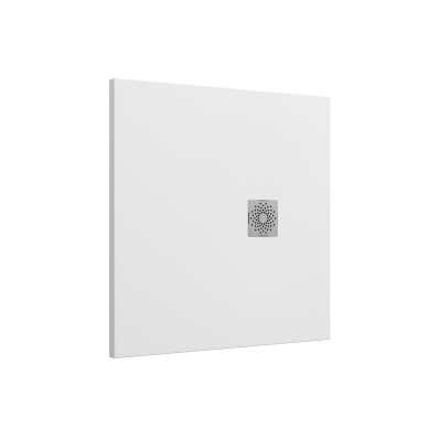 Solidstone 90x90   Shower Tray White