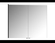 57067 - Mirror Cabinet, Premium, 80 cm, Hasiente Sıyah