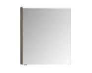 57077 - Mirror Cabinet, Premium, 60 cm, Grey Birch High Gloss Right
