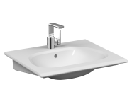 5707B403-0001 - İstanbul Vanity basin, 60 cm, with one tap hole, with overflow hole, white