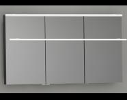 57080 - Mirror Cabinet, Premium, 120 cm, Hasiente Sıyah