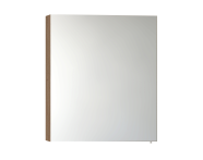 57082 - Mirror Cabinet, Classic, 60 cm, White High Gloss Right