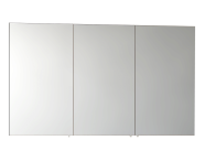 57085 - Mirror Cabinet, Classic, 120 cm, White High Gloss