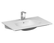 "5708B403-0001 - ""Frame Vanity basin, 80 cm, with one tap hole, with overflow hole, white"""