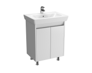 57119 - Vision Washbasin Unit, 65 cm, with doors, White High Gloss