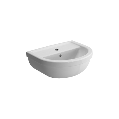 Washbasin, 45 cm, One Tap Hole, With Overflow Hole