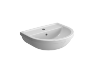 5751L003-0001 - Washbasin, 55 cm, One Tap Hole, With Overflow Hole