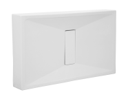 57770028000 - Slim 110x80 cm Rectangular Monobloc, Acrylic Waste Cover