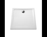5805L003-0578 - Arkitekt Square Shower Tray, 80 cm