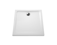 5805L203-0578 - Arkitekt Square Shower Tray, Antislip, 80 cm