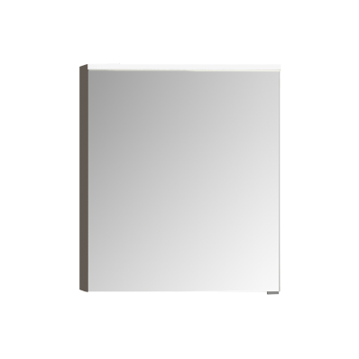 Mirror Cabinet, Premium with Led Lighting, 60 cm, Grey Oak, Right