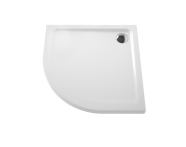 5807L203-0578 - Arkitekt Corner Shower Tray, Antislip, 80 cm