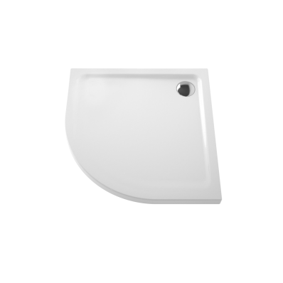 Arkitekt Corner Shower Tray, Antislip, 80 cm