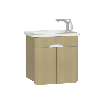 D-Light Washbasin Unit, 50 cm, Natural Oak