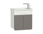 58130 - D-Light Washbasin Unit, 50 cm, Matte White & Mink